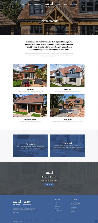 Domusea Developments Website