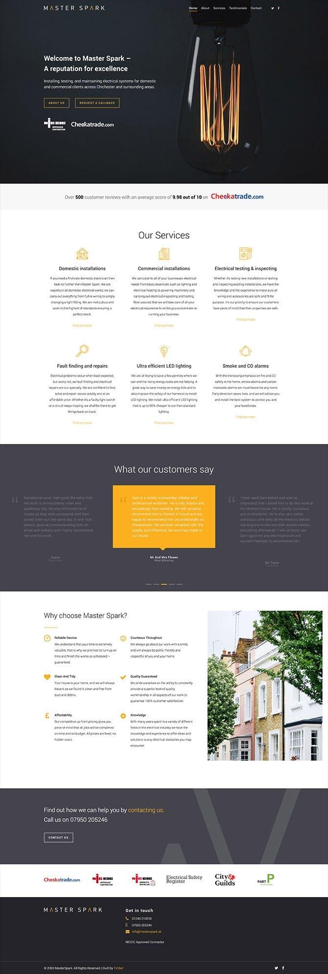 Master Spark Electrician Website
